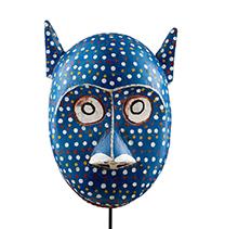 Hemingway African Gallery Bozo cat mask, Mali