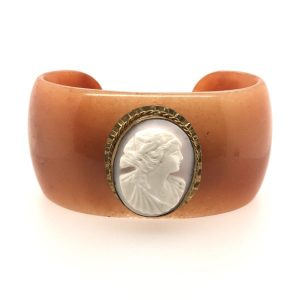 Marcella Orange Aventurine Cameo Cuff