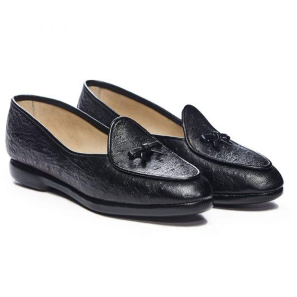 Belgian Shoes Ostrich Calf