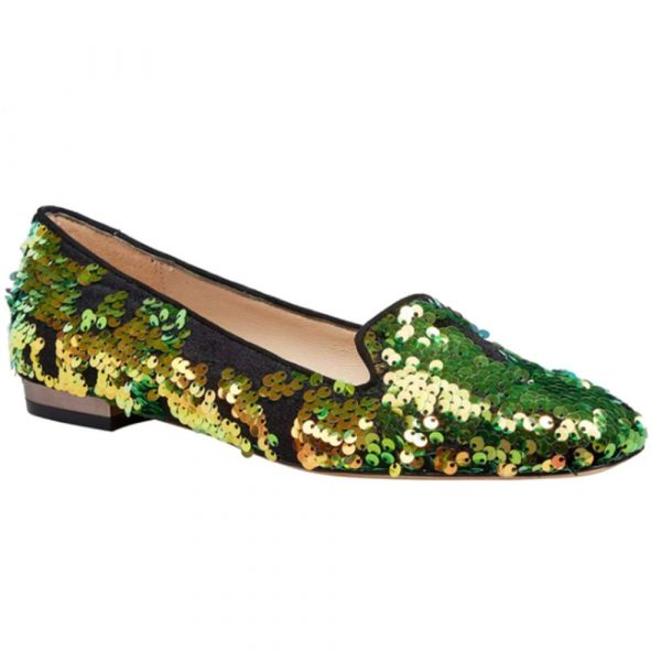 Lucy Choi Shoe Hampton Green Glitter