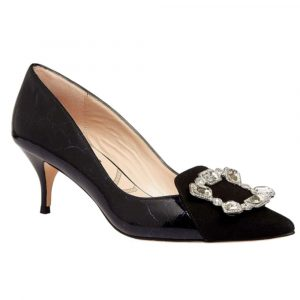 Lucy Choi Shoe Royal Ascot Black Leather