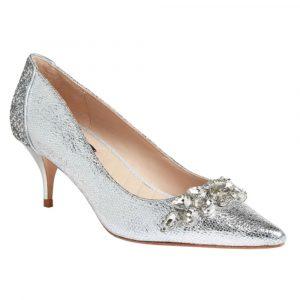 Lucy Choi Shoe Thames Silver Leather