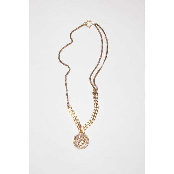 Acne Studios Pendant Necklace Antique Gold