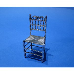 Danniel Bexfield Antiques 17th Century Dutch Silver Miniature Chair