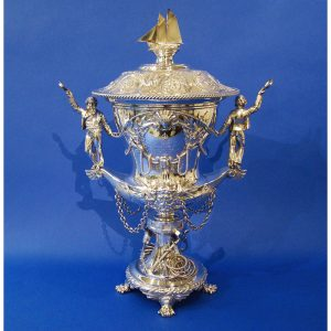 Danniel Bexfield Antiques A Large Royal Silver Sailing Cup of Exceptional Quality & Detail