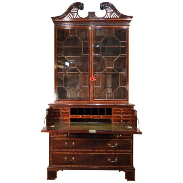 David Skinner Antiques George III Mahogany Secretary, 18th Century, in the Manner of Henry Kettle