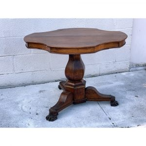 English Country Antiques Pedestal Table in Oak. c 1860