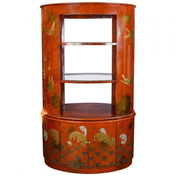 Gallery 25 1920s French red lacquer display cabinet or bar