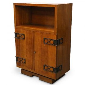 Gordon Watson LTD A Cherry Wood Cabinet With Metal Mounts