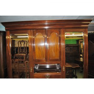 Jere's Antiques English mahogany Triple Armoire