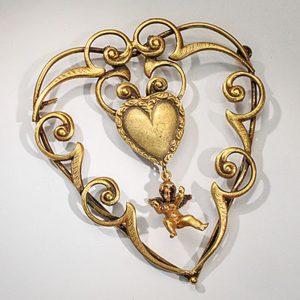 Linda Horn A Joseff Heart Brooch & Earrings