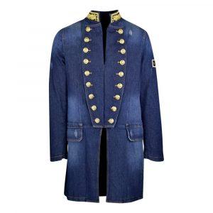 Lords & Fools Men Military Denim Coat