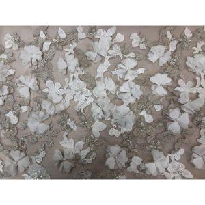 Sposabella Couture Diamond White & Champagne Super Imposed Lace