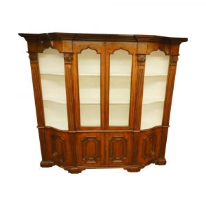 Uptowner Antiques 19th Century Italian Narrow Walnut Breakfront