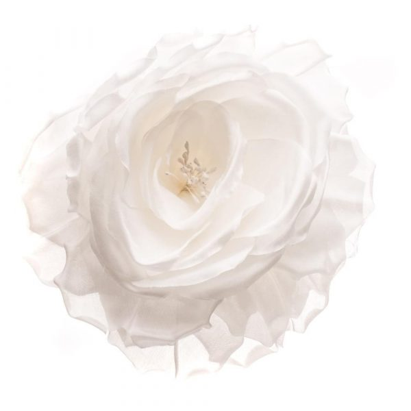 VV Rouleaux White Silk Rose 200mm