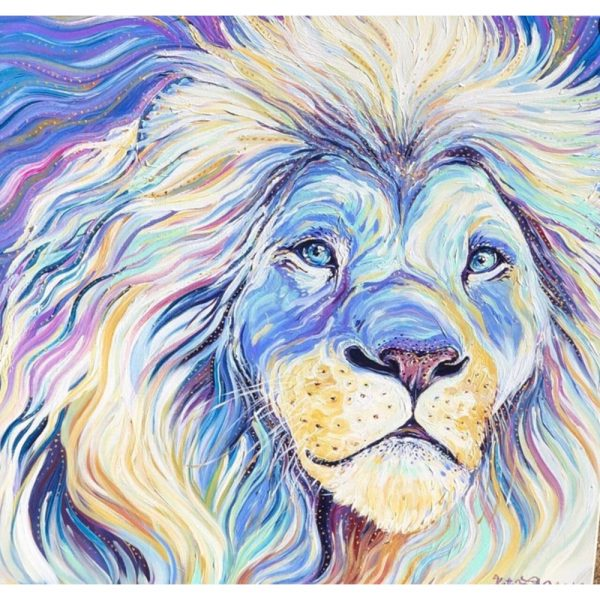 Art For The People White Lion By Kate Fitzpatrick