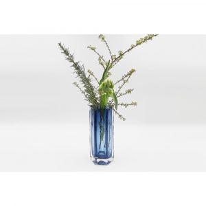 Austrian Art Solitaire Vase Blue
