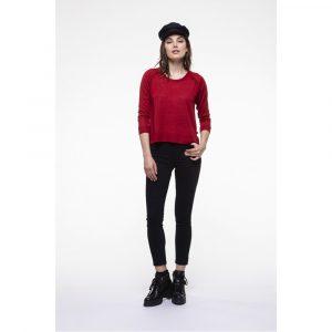 Chemins Blancs Samudra Merinos Wool Red Sweater