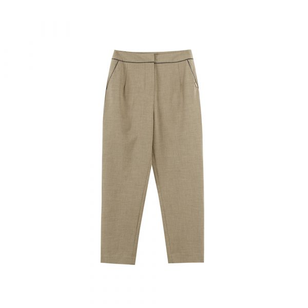 Chloe Chen Simple Trousers/Brown