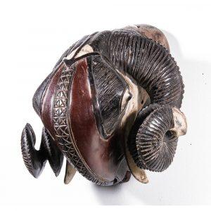 Hemingway Gallery Baule Ram Mask, Ivory Coast