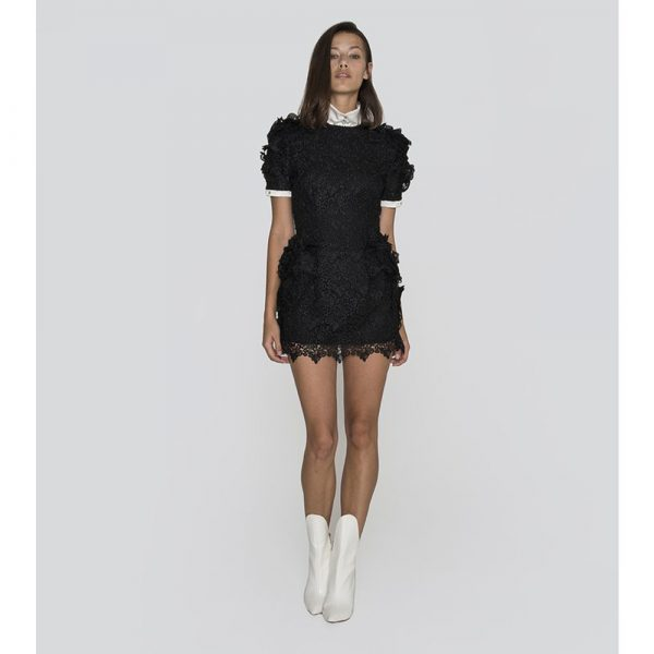 Jiri Kalfar Little Black Dress With Bishop Collar