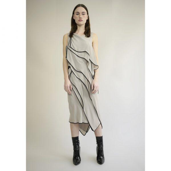 Judy WU Silk Crepe Layer Dress