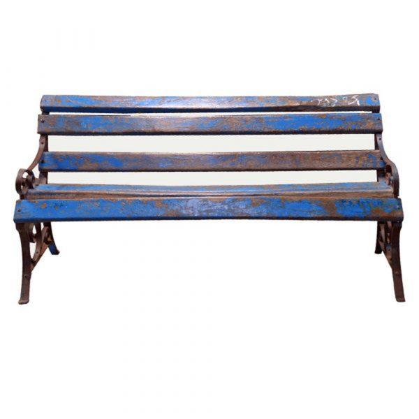 Lalji Handicrafts Antique Cast Iron & Wooden Bench