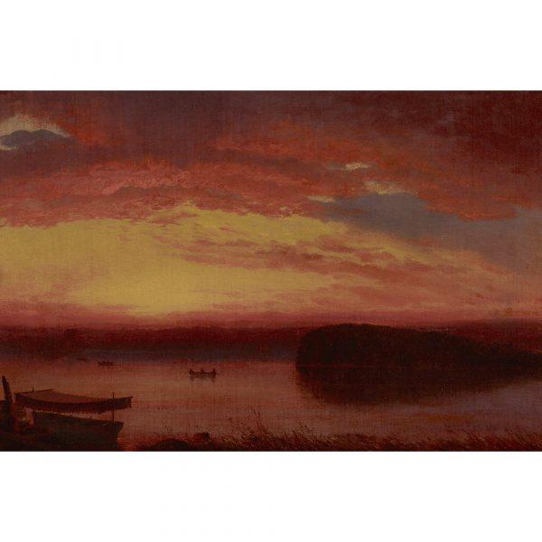 M.S. Rau Sunset On Lake George By Louis Remy Mignot