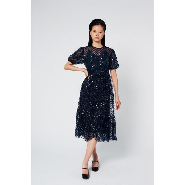 Manoush Black Sequinned Bolchoï Dress