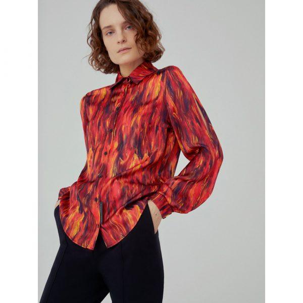 Marcell von Berlin Women's Sleeve Slits Blouse