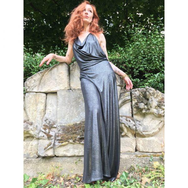 Palmaccio Jeweled Backless Dress