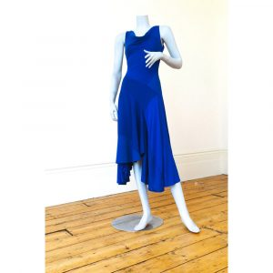 Philmore Clague Hybrid Dress In Royal Blue Sleeveless