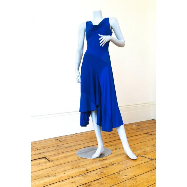 Philmore Clague Hybrid Dress In Royal Blue Sleeveless