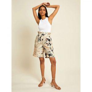 Ruby Store Les Coyotes De Paris Floral Silk Shorts
