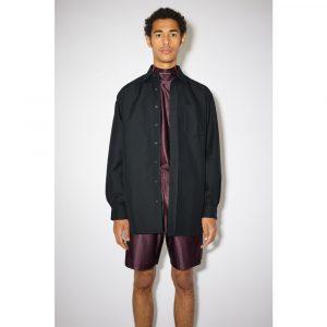 Acne Studios Cotton-Blend Twill Shirt Navy