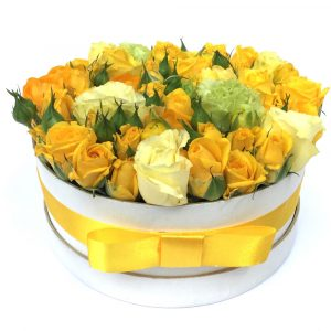 Arioso Yellow Round Flower Box
