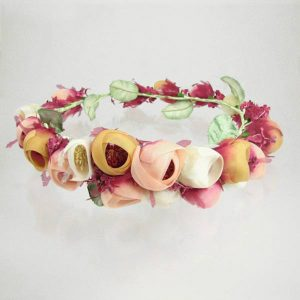 Basia Zarzycka Bridal Circlet Floral Rose