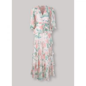 Beulah London Liana Blush Dallia Tiered Long Dress