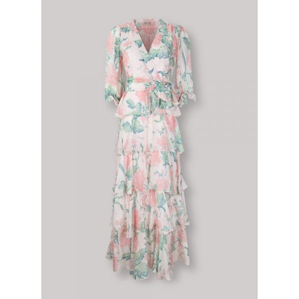 Beulah London Liana Blush Dallia Tiered Long Dress