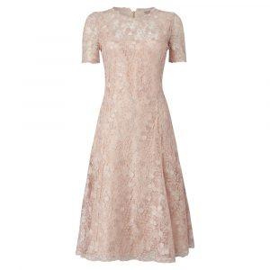 Caroline Charles Alice Lace Dress - Pink