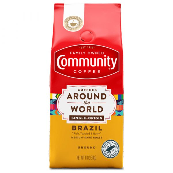Community Coffee 11 oz. Ground Coffees Around the World - Brazil