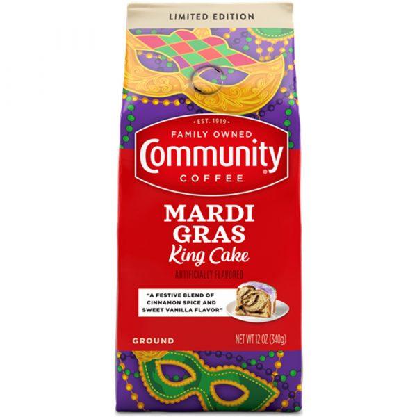 Community Coffee 12 oz. Ground Mardi Gras King Cake