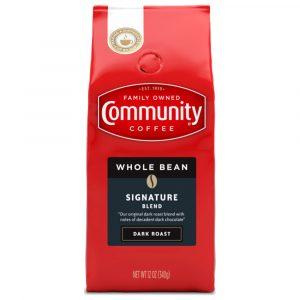 Community Coffee 12 oz. Whole Bean Signature Blend Dark Roast Coffee