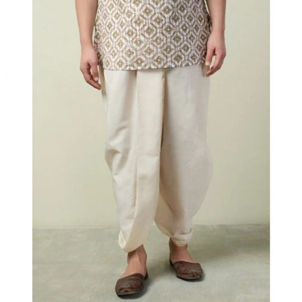 Fabindia Cotton Silk Striped Stitched Dhoti
