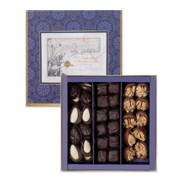 Haci Bekir Chocolate Coated Turkish Delight With Extra Pistachio, Walnut & Almond Madlen