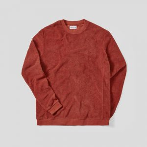 Hamilton & Hare Terry Towelling Sweatshirt - Tobacco