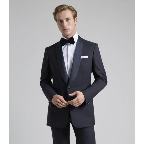 Huntsman Midnight Blue Single Breasted Suit