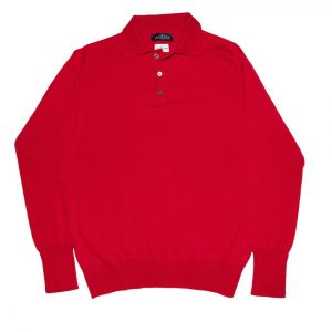 J. Mueser Cashmere Polo Collar Sweater