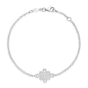 Kiki McDonough Lace Pave Diamond Bracelet In White Gold