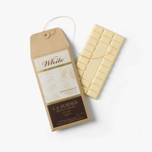 L.A. Burdick Handmade Chocolates White Chocolate Bar